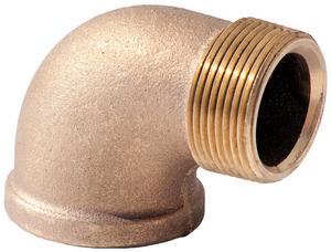 "1-1/2"" #125 Threaded Brass 90° Street Elbow"